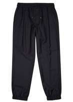 McQ Navy Stretch Wool Jogging Trousers