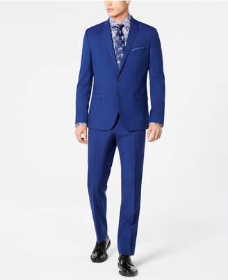 Nick Graham Men Slim-Fit Stretch Hot Blue Suit