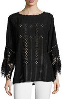 Johnny Was Mesha Eyelet Georgette Tunic