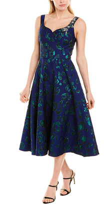 Jason Wu Collection Jacquard Silk-Lined A-Line Dress