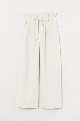 H&M Twill paper bag trousers
