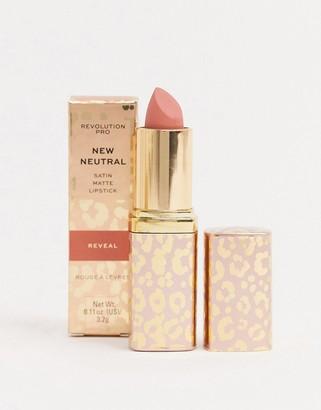 Revolution Pro New Neutrals Blushed Satin Matte Lipstick - Reveal