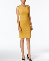 Kasper Ponte-Knit Seamed Sheath Dress, Regular and Petite
