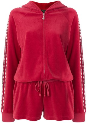 Juicy Couture Exclusive Swarovski embellished velour romper