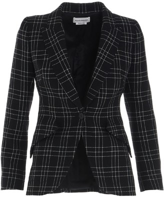 Alexander McQueen Checked Tailored Blazer