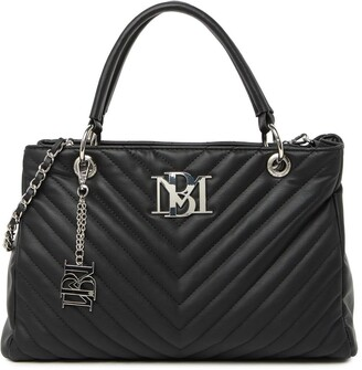 Badgley Mischka Chevron Quilted Tote Bag