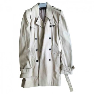 Balenciaga Beige Leather Trench coats