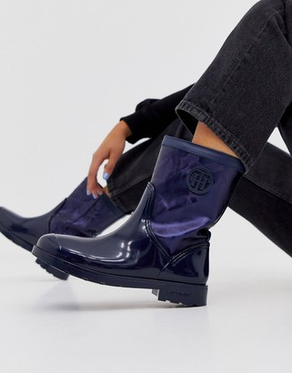 Tommy Hilfiger lined rain boots