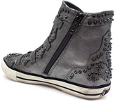 "Ash Viking"" Pewter Leather Studded Sneaker"