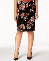 Nine West Plus Size Printed Pencil Skirt