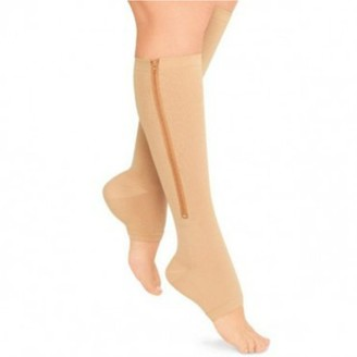 The Source Force Open Toe/Zip Up Compression Socks