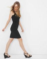 White House Black Market Tiered Black Instantly Slimming Dress