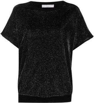 Fabiana Filippi metallic melange-effect T-shirt