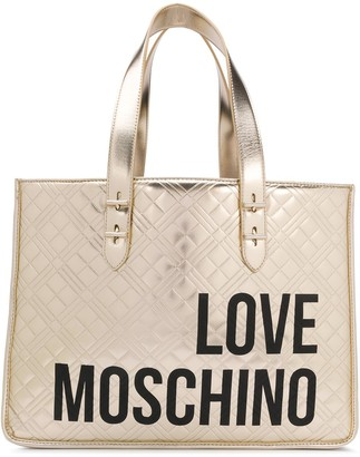 Love Moschino Logo Print Tote Bag