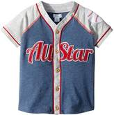 Mud Pie All Star Button Down Short Sleeve Shirt Boy's Clothing