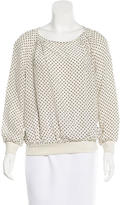 Marc by Marc Jacobs Geometric Print Long Sleeve Top