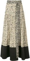 Proenza Schouler pleated animal-print skirt