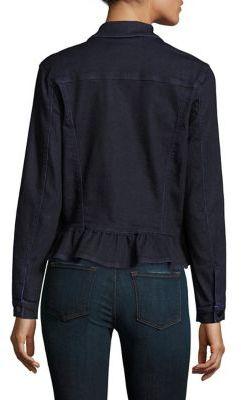 J Brand Ruffled Denim Jacket