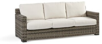 Rosecliff Heights Varney Patio Sofa with Sunbrella Cushion Color: Cast Oasis