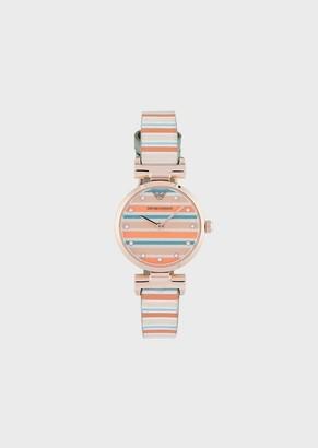 Emporio Armani Leather Strap Watch