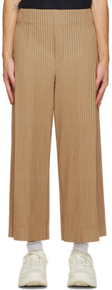 Homme Plissé Issey Miyake Brown Pleats Bottoms 1 Trousers