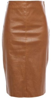 Brunello Cucinelli Leather Pencil Skirt