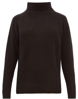 The Elder Statesman Highland High-neck Cashmere Sweater - Womens - Black