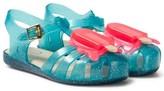 Mini Melissa Turquoise Glitter Lollipop Jelly Sandals