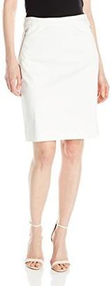 Jones New York Women's Zipper Pencil Skirt W/Curved Seam
