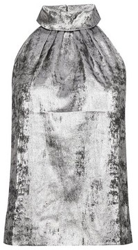 Dorothy Perkins Womens Dp Petite Silver Halterneck Top, Silver