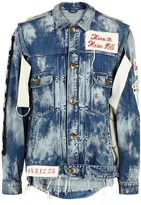 Maison Mihara Yasuhiro Blue Appliquéd Distressed Denim Jacket