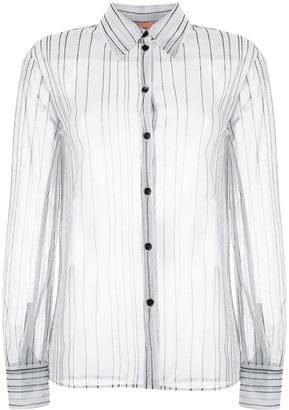 Missoni Sheer Glitter Striped Shirt