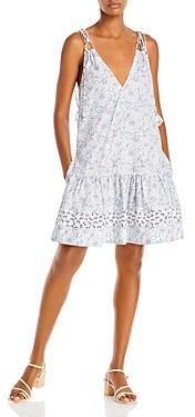 Rebecca Taylor Floral Print Tie Strap Dress