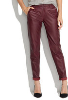 Madewell Leather Slim Trousers