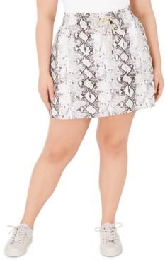 Ideology Plus Size Snakeskin Print Skirt, Created for Macy's