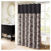 Nobrand No Brand Wellington Paisley Jacquard Polyester Shower Curtain - Black