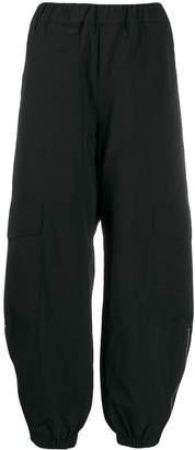 Barena elasticated trim wide-leg trousers
