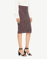 Ann Taylor Curvy Knit Tweed Pencil Skirt
