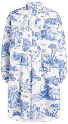 Moschino All-Over Print Shirt Dress