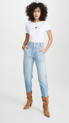 Mother Superior The Pleated Popular Peg Jeans