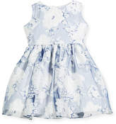 Helena Camellias Organza Sleeveless Dress, Size 7-14
