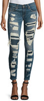 Rag & Bone Dre Distressed & Repaired Mid-Rise Skinny Jeans, Ada Brigade