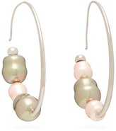 Peter Pilotto Iridescent-bead Hoop Earrings - Womens - Pink