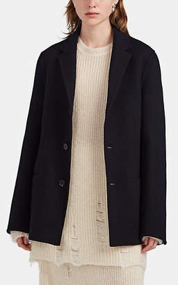 Jil Sander Women's Foamy Wool-Cashmere Blazer Jacket - Navy