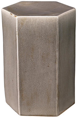 Jamie Young Small Porto Outdoor Side Table - Gray