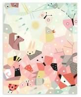 Nurseryworks Nursery Works Menagerie Cubist 16-Inch x 20-Inch Wall Art