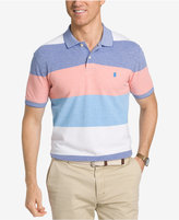 Izod Men's Performance UPF 15+ Advantage Colorblock Stripe Polo
