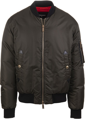 DSQUARED2 Military Green Icon Man Bomber Jacket