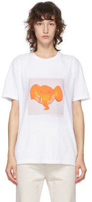 Stella McCartney White Tangerine Elephant T-Shirt