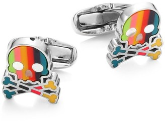 Paul Smith Skull Striped Cufflinks